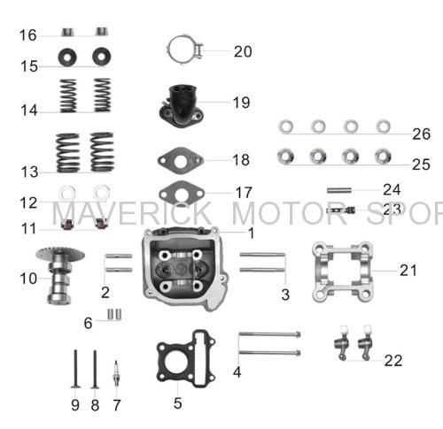 GY6 Cylinder head kit