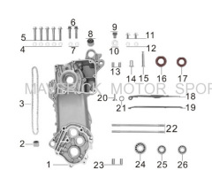 GY6 Left Crankcase kit