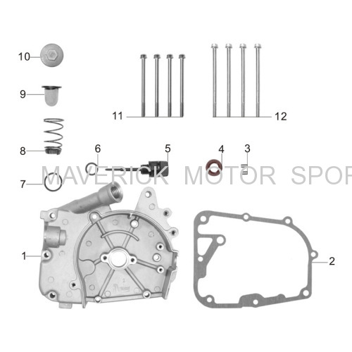 GY6 Right Crankcase cover kit