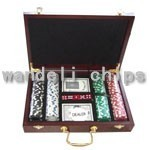 detailed casino chip set