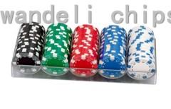 laser sticker poker chip set