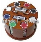 real clay poker chips set