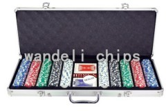 500 piece poker chips set