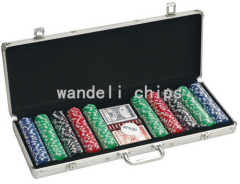 monogrammed poker chips set