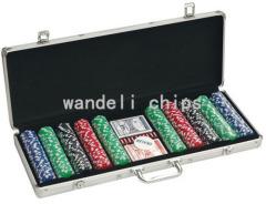 monogrammed poker chips set
