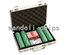 denominations poker chip set