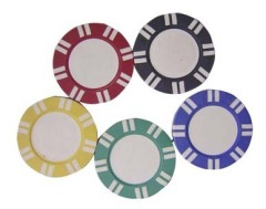 poker chip label
