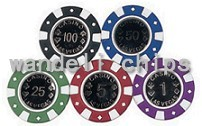 plastic poker chip