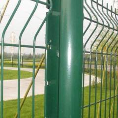 green pvc-coated fences