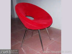 FIBERGLASS RING CHAIR, FABRIC RING CHAIR, RING DINING CHAIR,
