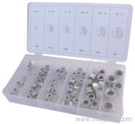 Nylon insert nut set