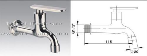Brass Ceramic Sheet Faucet for Washing Machine