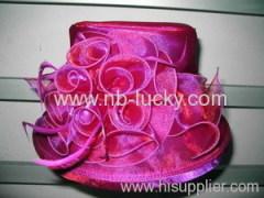 organza fabric hat