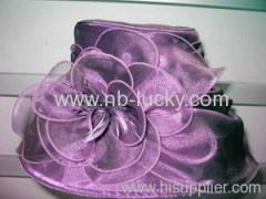 organza glass silk hat