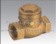Brass sewing check valve