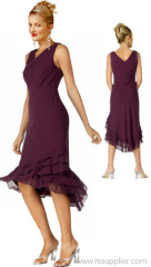 purple cocktail gown