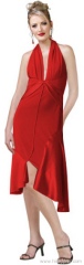 red satin cocktail dresses