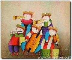 handmade oil painting on Canvas Children