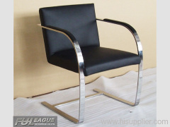 BRNO FLAT CHAIR,LOUNGE CHAIR, LEATHER CHAIR ,MODERN LEATHER CHAIR,
