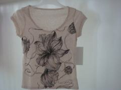 printed round neck t-shirt for women