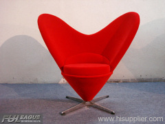 HEART SHAPED CONE CHAIR, FIBERGLASS CONE CHAIR,HEART CONE CHAIR,BAR LOUNGE CHAIR