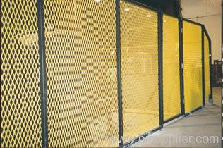 yellow PVC coated metal fences