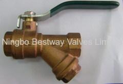 bronze filter ball valve