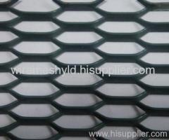 decorative black expanded metal meshes