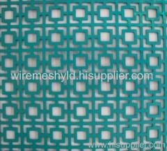 green coated perforated wire mesh