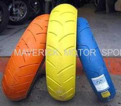 Colourful Motorcycle Tyre