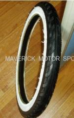 White Edge Motorcycle Tire