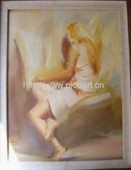 nule oil painting