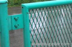 Express Highway metal fencing