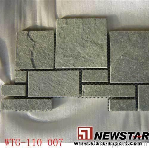 Slate paver mats,meshed slate
