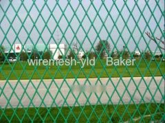 Green Color Expanded Metal Fence