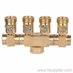 Brass 4-way hose connector