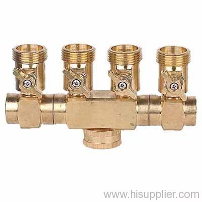 brass thread 4 ways hose connector
