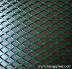 flattened PVC coated expanded metal meshes