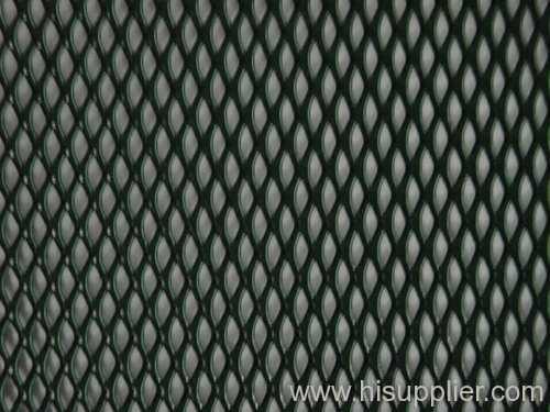 green PVC coated mini aluminum expanded metals