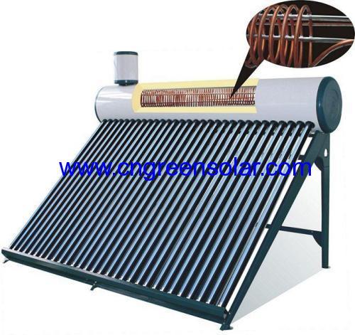 coil copper pre-heated solar heater
