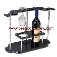 wine holder corkscrew and bottle rack