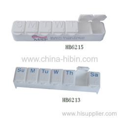 Boîte à pilules en plastique de 7 jours