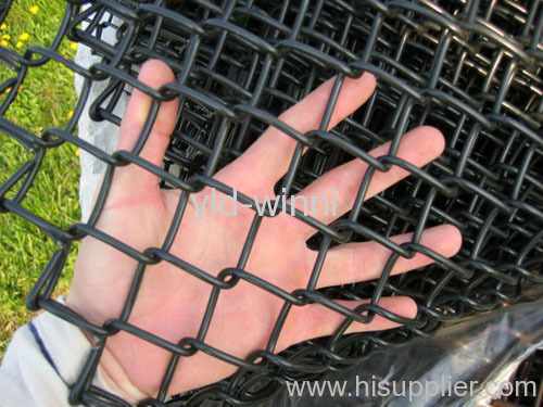 Black PVC Coated Chain Link Fences
