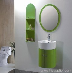 green PVC bathroom cabinet