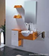 Orange PVC Bathroom Vanity