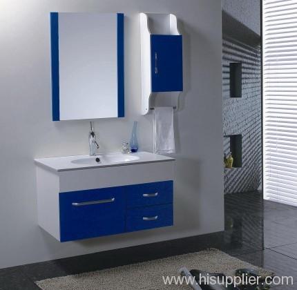 Blue PVC Bathroom Vanity