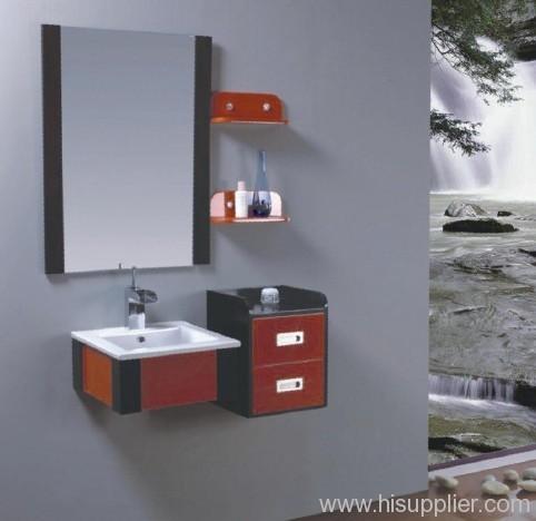red pvc bathroom vanities