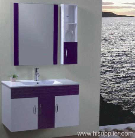 Purple PVC Bathroom Cabinet