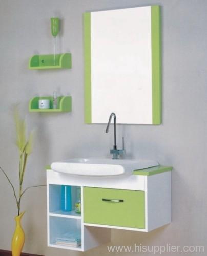 Green PVC Bathroom Cabinet