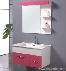 Pink PVC Bathroom Vanity